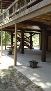 Covered area for entertaining or family activities.