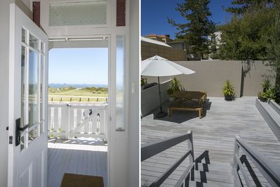 View from front and back doors
