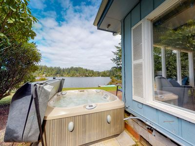 Photo for Dog-friendly, waterfront home w/ amazing views & a private hot tub!