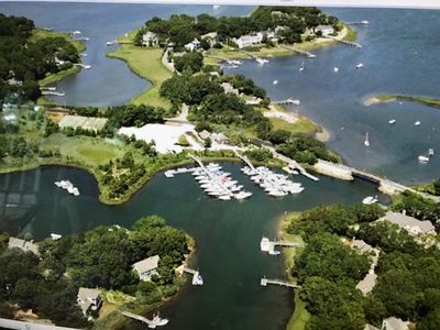 new seabury waterway...daniels cove top left - our home is 9:00