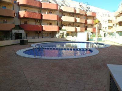 Photo for Spacious apartment with pool and close to beaches
