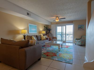 Photo for Pool, Direct Lagoon Front, and Beach views- 3 balconies with excellent views