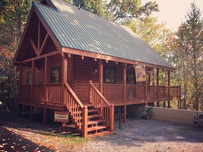 Photo for AMAZING LOCATION! Beautiful Cabin Directly Between Pigeon Forge and Gatlinburg.