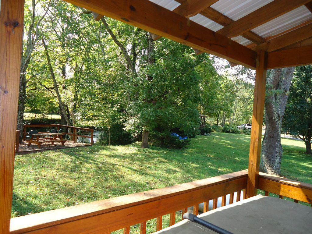 Waterfront log cabin rental for up to 8 in blue ridge ga for Blue ridge ga cabins for rent