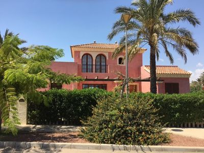 Photo for Luxury 5 bed Villa with pool, garden, terraces, huge games room & close to beach