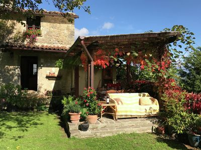 Photo for Detached house in the heart of the Garfagnana nature, with jacuzzi in the garden