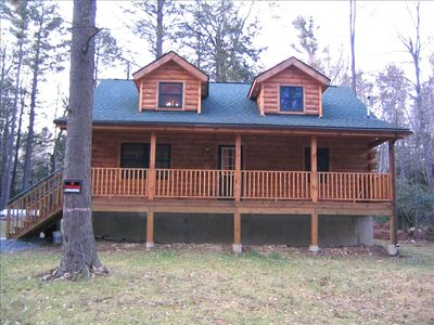 Photo for True Log House-4BR+Loft/2BA , Game Rm, Close to Lake.