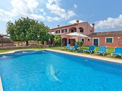 Photo for Rustic Finca with pool and close to the golf course in Llucmajor