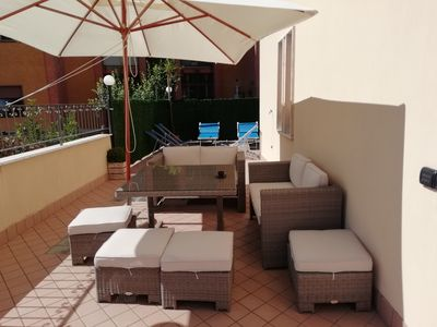 Photo for La Rosa Rossa holiday home in the center of pimonte
