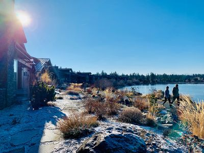 Photo for Best location in Bend!! Riverfront, boardwalk and walk to Old Mill