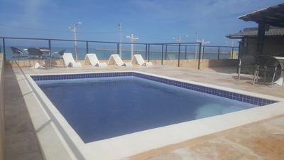 Photo for Flat facing the sea from Iracema beach with free room cleaning service