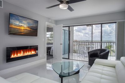 Television and LED fireplace