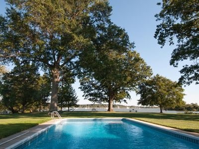 Photo for Martins Point: Historic Chesapeake waterfront estate -pool, beach, dock & more!