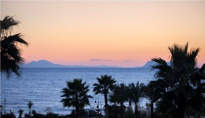 Photo for Ground floor apartment with private garden in a beach front complex Torre Bermeja, Estepona