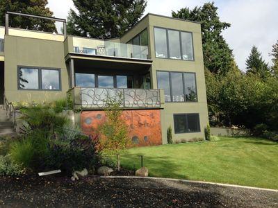 Photo for Walking Distance To Ferry & Winslow, Sound And Mountain Views, Private Setting