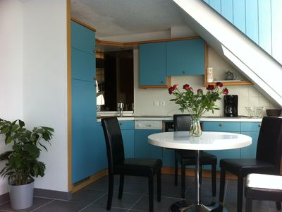 Photo for charming T2 close to the beach, sea view, fully equipped.