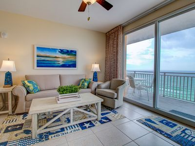 Photo for Water Park On-Site!2 Beachfront Master Suites!Corner Balcony Views!Chairs Inc