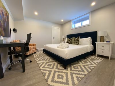 Master King bedroom with desk space