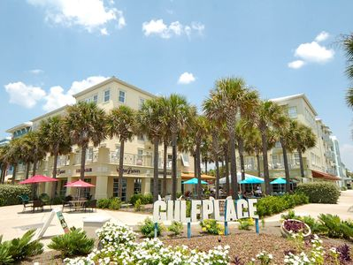 Gulf Place has on site shopping, eating and entertainment.