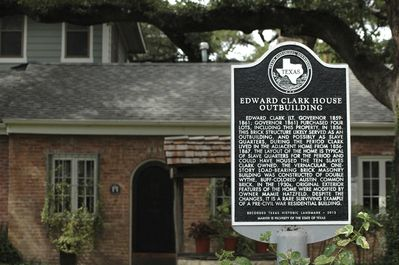 Texas Registered Historic Landmark sign and front of home