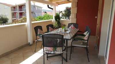 Photo for Two bedroom apartment with terrace Vodice (A-16578-a)