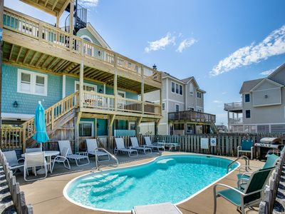 Photo for Double Dip Beach House | 615 ft from the Beach | Private Pool, Hot Tub