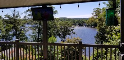 Photo for Beautiful Hillside Lake Retreat with Elevated Waterfront Views and Access