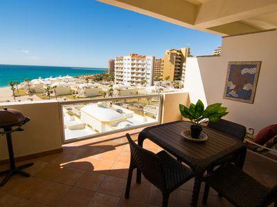 Photo for Spectacular 1 Bedroom Condo on Sandy Beach at Las Palmas Resort B-502