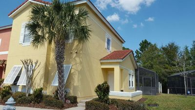 Photo for Private Pool Townhome 4 BR in Gated Resort, Very Close to All Attractions, Wifi.