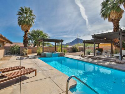 Photo for Mid-Century Modern Retreat! Sparkling Pool & Spa! 180 Degree Southern Mtn Views!  South Palm Desert!