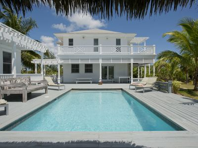 Photo for 4-Acre Estate on Banks Rd, House & Guest cottage, Pool, Calm Protected Beach
