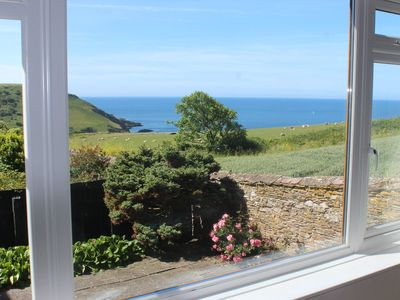 Photo for SPACIOUS COTTAGE, WITH STUNNING SEA VIEWS SET ON SOUTH WEST COAST PATH
