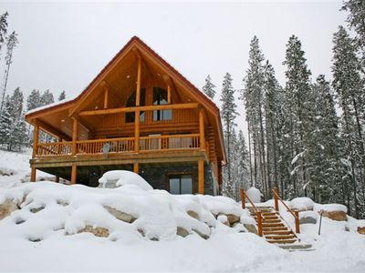 Photo for Luxury 2000 Sq Ft Cedar Log Chalets Perfect for Families or Groups
