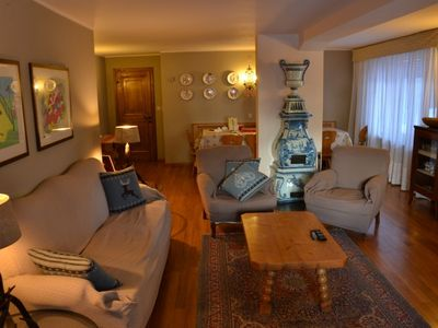 Photo for Rent large apartment in Cortina area Cristallo with terrace overlooking Tofane