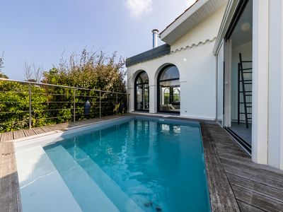 Photo for KEYWEEK Contemporary villa with pool with golf views and near beaches