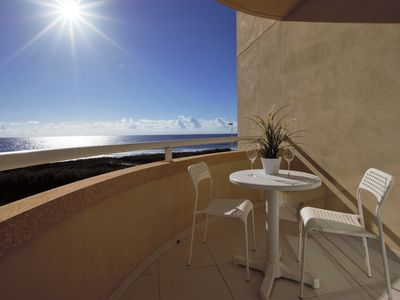 Photo for Beachfront Apartment with Panoramic Sea Views