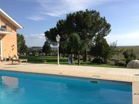 Villa is lovely and peaceful, beautiful setting, great pool that all the family loved.