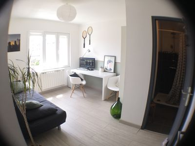 Photo for Sunny private double room at the foot of the metro close to Lille