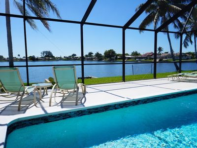 Photo for Villa Lake Mohave - 3 BR 2 Ba Lake Front Home, electric and solar heated pool, southern exposure, HS