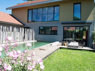 Photo for Holiday house with natural pool on Lake Starnberg and near Munich