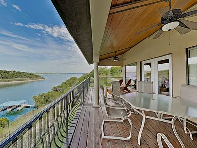 Photo for Shiraz Haus: Lakefront Villa on Vineyard, 45 Mins from Downtown Austin