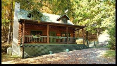 Photo for Cozy Log Cabin With Hot Tub - Pet Friendly