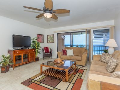 Photo for Family Friendly Oceanfront Condo with Lanai, Washer/Dryer, Flat Screen TV