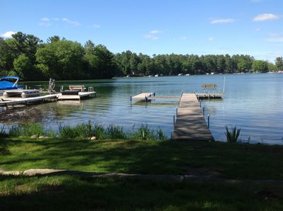 Enjoy a lovely island view. There's a Boat slip for your ski boat or pontoon.