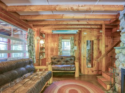 Photo for Lakefront dog-friendly home w/ dock & outdoor fire pit!