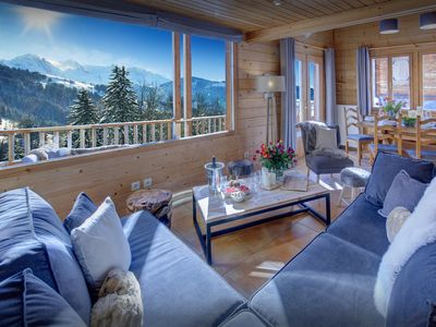 Photo for Amazing views from the hot tub of chalet near village, pistes - OVO Network