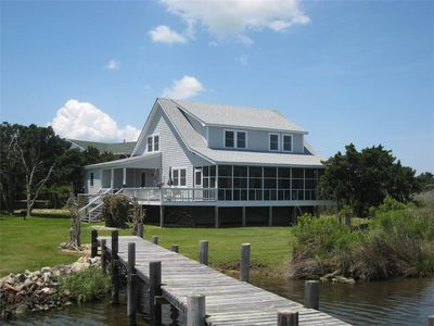 Photo for Tolson House:  Sound front, private docking, views, screened porch.