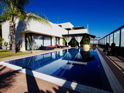 Photo for Buda Home, spectacular design house with pool and disco. Costa de BCN