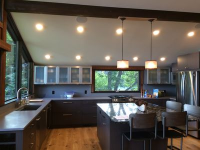 The newly remodeled kitchen.
