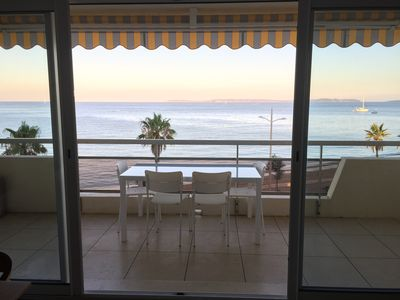 Photo for Beautiful Apt on beach NEW STATE, terrace, SEA VIEW 180, Parking, WIFI!